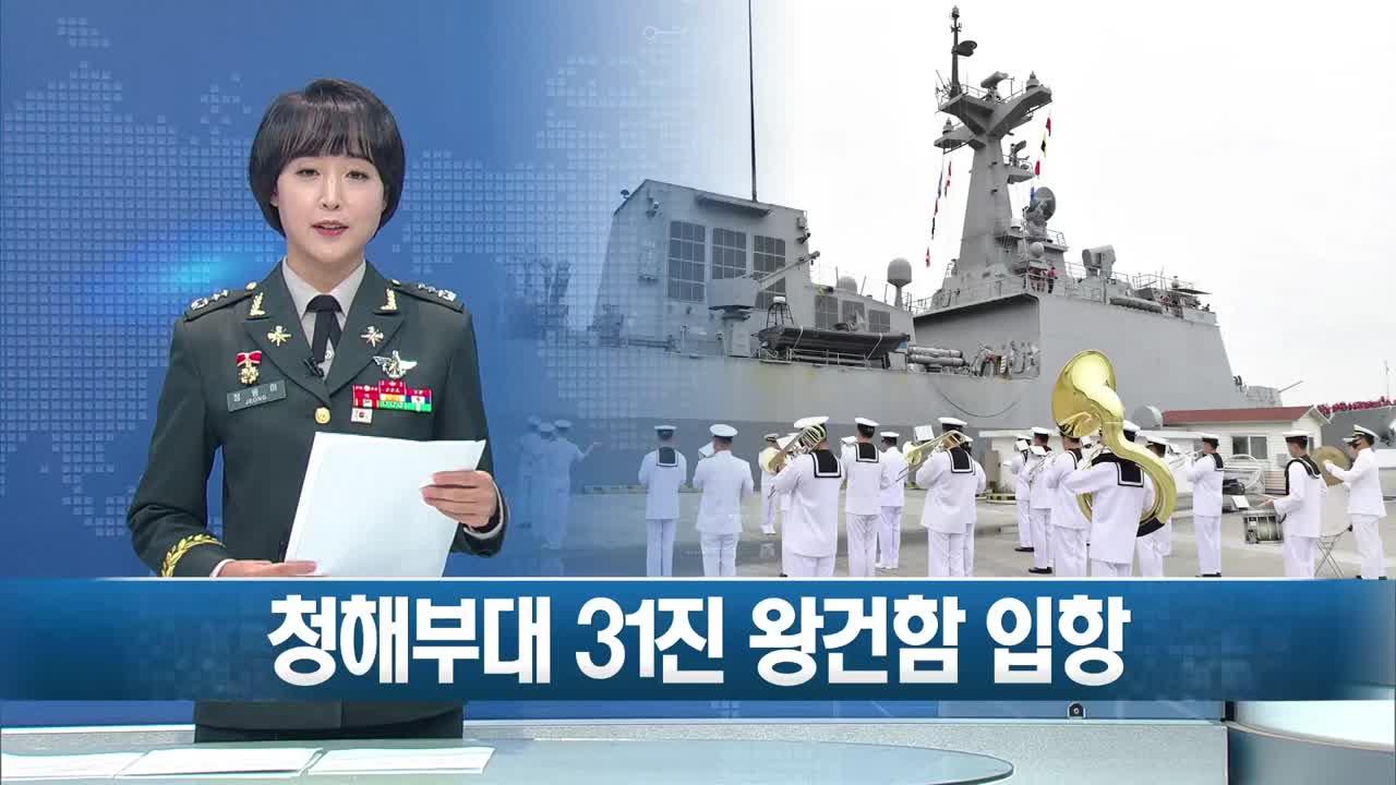 해군 청해부대 31진 왕건함 입항